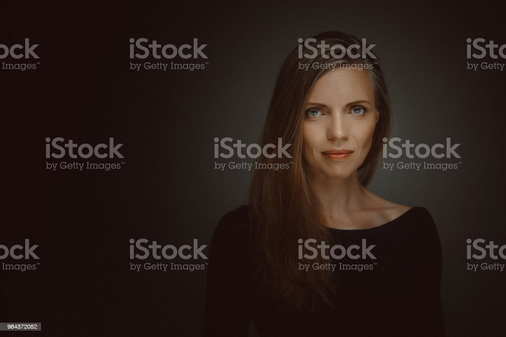 Mooie Middle Aged vrouw portret - Royalty-free 40-49 jaar Stockfoto