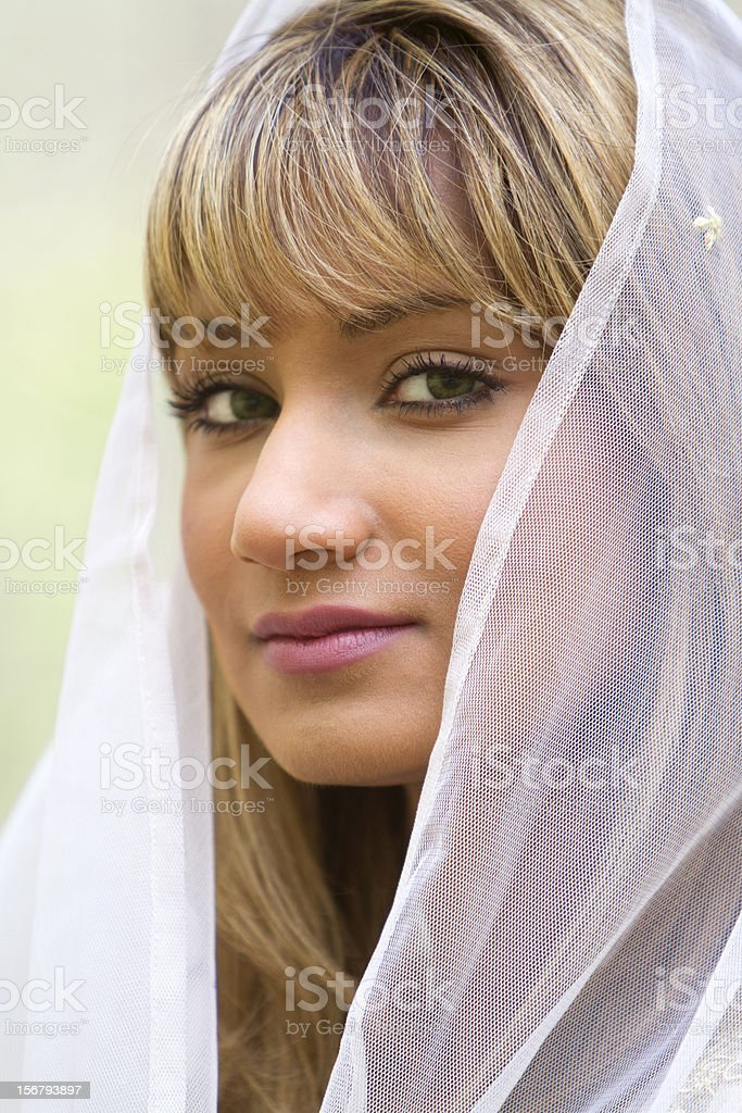 Beautiful Middle Eastern Bride stock photo