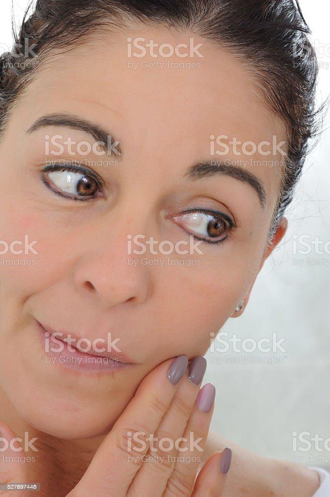 beautiful middle-aged woman stock photo