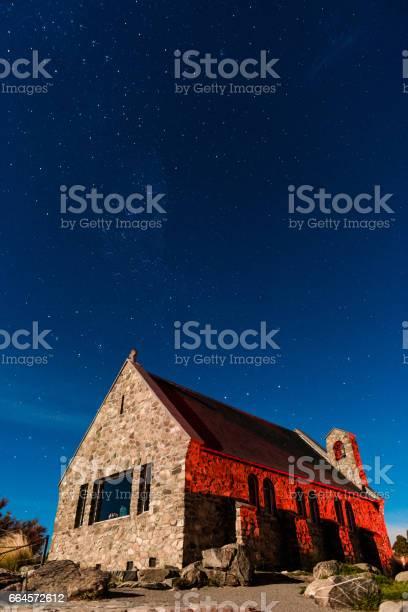 Photo of Beautiful Milky Way Galaxy Rising Above Church Of Good Shepherd, New Zealand.