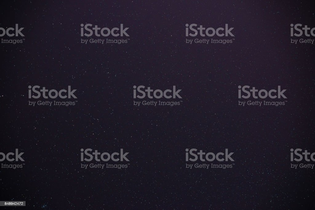 Beautiful milky way on a dark night sky with stars stock photo