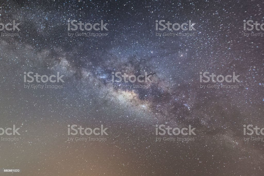 Beautiful milkyway galaxy stars view for cosmos background stock photo