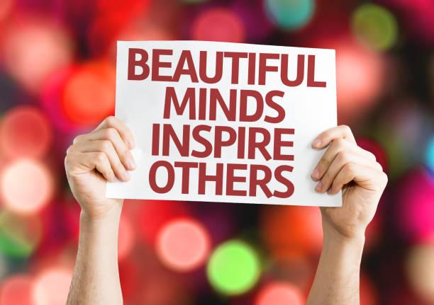 schöne gedanken inspirieren sie andere - motivationsfitness zitate stock-fotos und bilder
