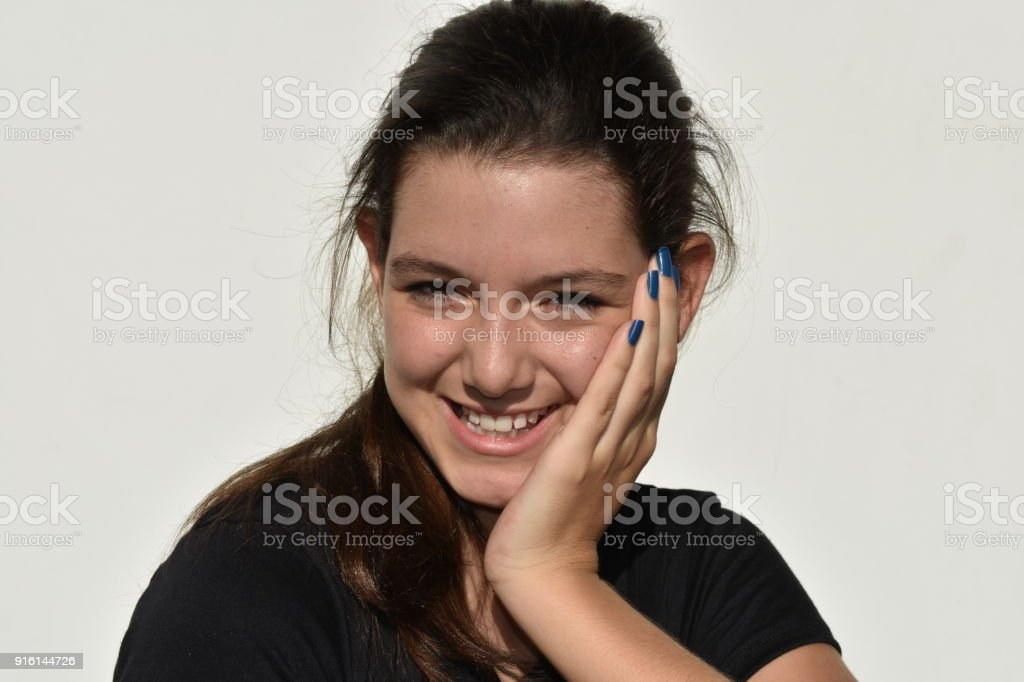 Beautiful Minority Teenage Female stock photo