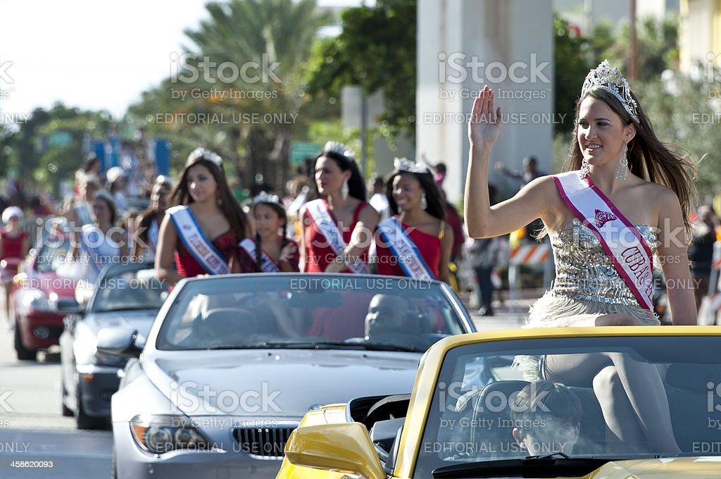 Beautiful Misses at a Parade stock photo