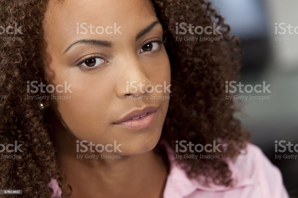 Beautiful Mixed Race African American Girl royalty-free stock photo
