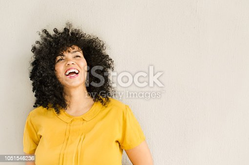 Portrait of a happy attractive young woman