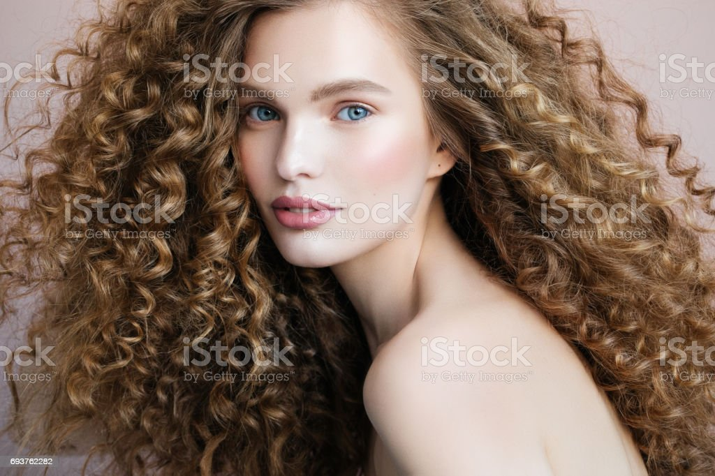 Beautiful model stock photo