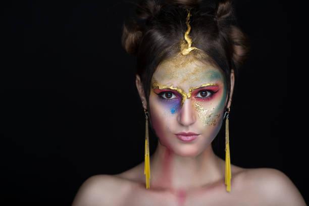 wunderschöne modell - vogue muster stock-fotos und bilder