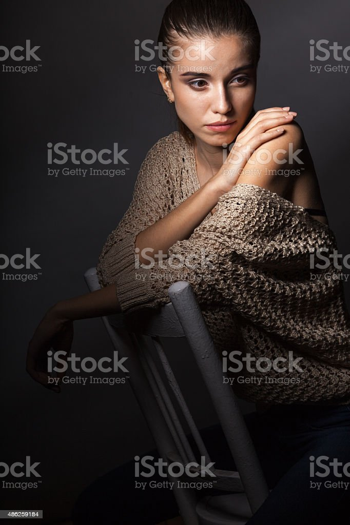 beautiful model portrait stock photo