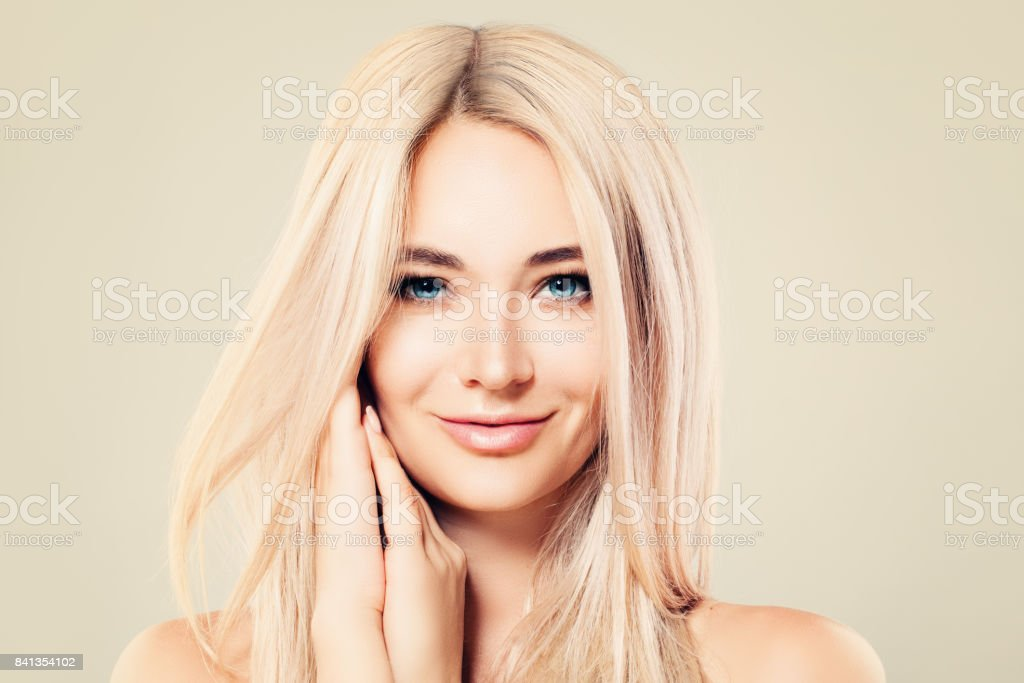 Beautiful Model Woman With Healthy Skin And Blonde Hair Cute Female Face Spa Beauty Facial Treatment And Cosmetology Concept Stock Photo Download Image Now Istock