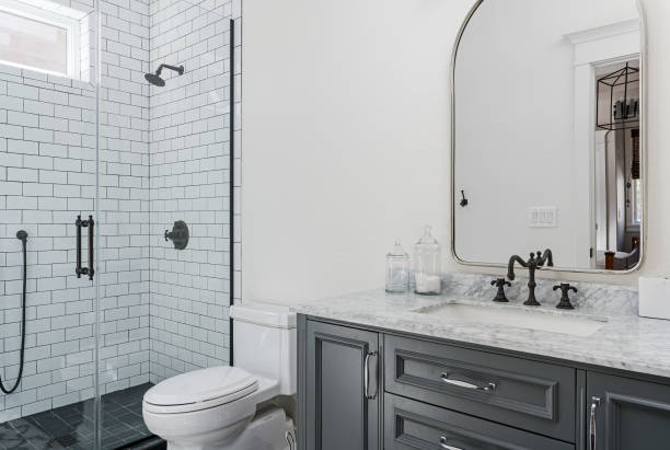 Beautiful Modern Bathroom Photo of a contemporary looking bathroom. household fixture stock pictures, royalty-free photos & images