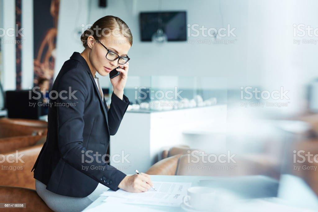Beautiful Modern Businesswoman stock photo