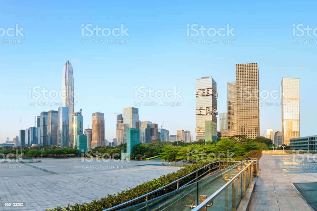 Beautiful modern city skyline in Shenzhen - Royalty-free Architecture Stock Photo