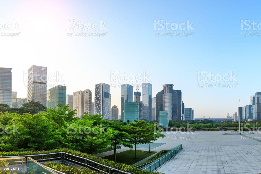 Schöne moderne Stadt Skyline in Shenzhen - Lizenzfrei Architektur Stock-Foto