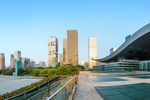 Schöne Moderne Stadt Skyline In Shenzhen Stockfoto und mehr Bilder von Architektur
