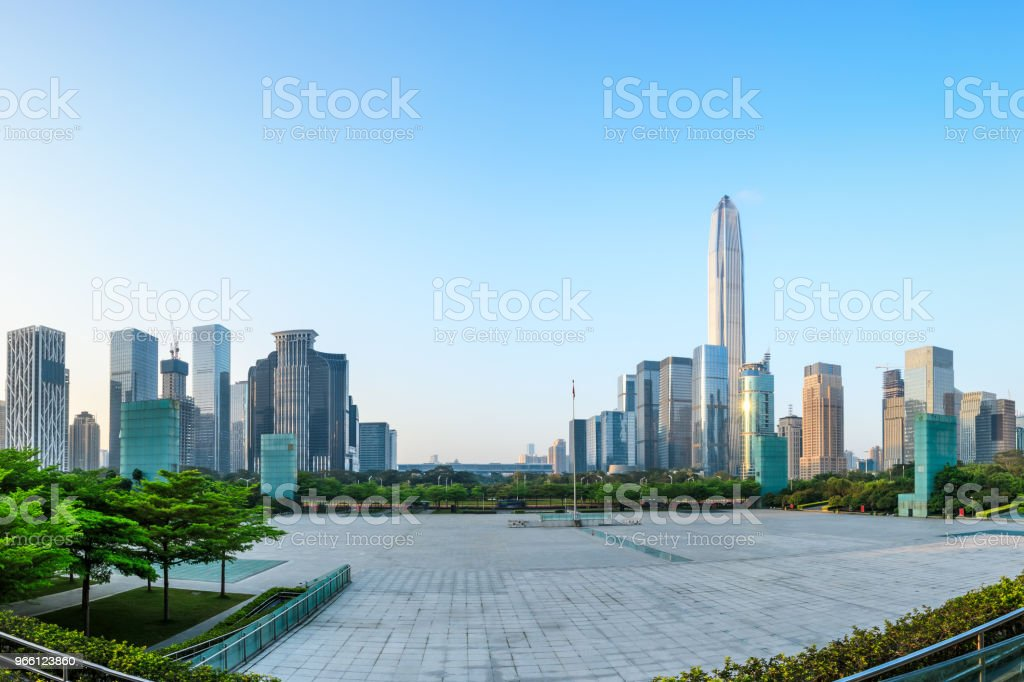 Beautiful modern city skyline in Shenzhen - Royalty-free Architecture Stock Photo