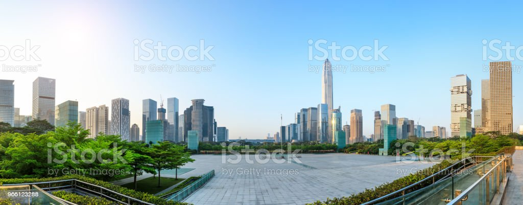Beautiful modern city skyline panorama in Shenzhen - Royalty-free Ao Ar Livre Foto de stock