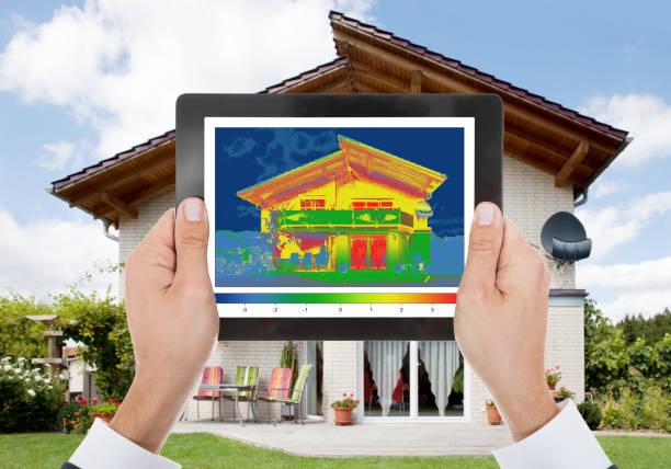 Beautiful modern dream home stock photo