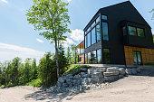 Residential Building, Modern house, Luxury, Window.