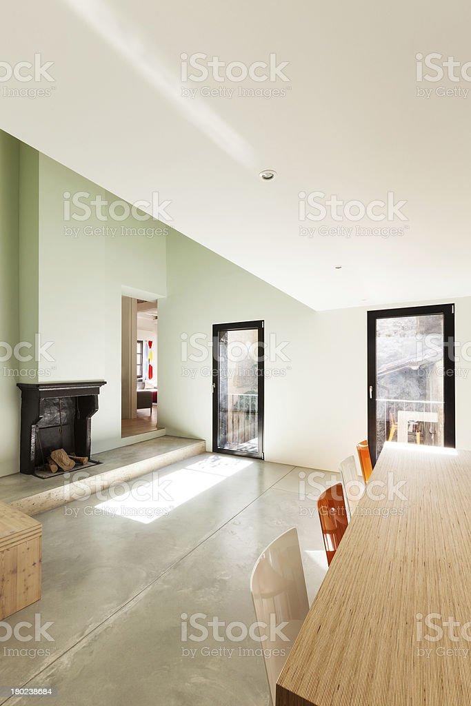 Schönes Modernes Haus, Innen Lizenzfreies Stock Foto