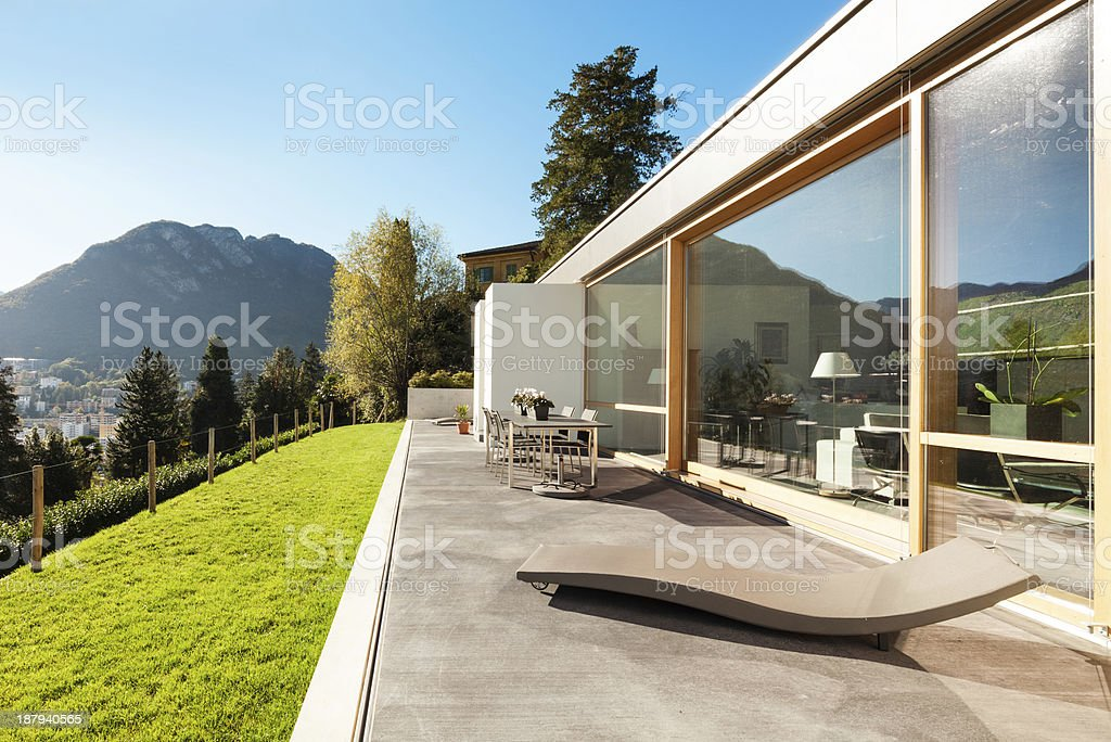 Beautiful modern house, outdoor royalty-free stock photo
