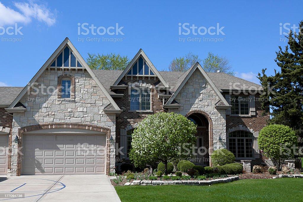 Beautiful Modern House stock photo