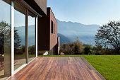 beautiful modern house with garden, outdoor