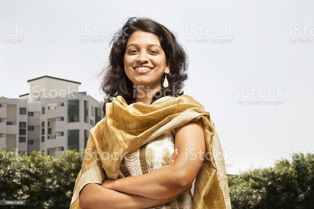 beautiful modern indian woman stock photo