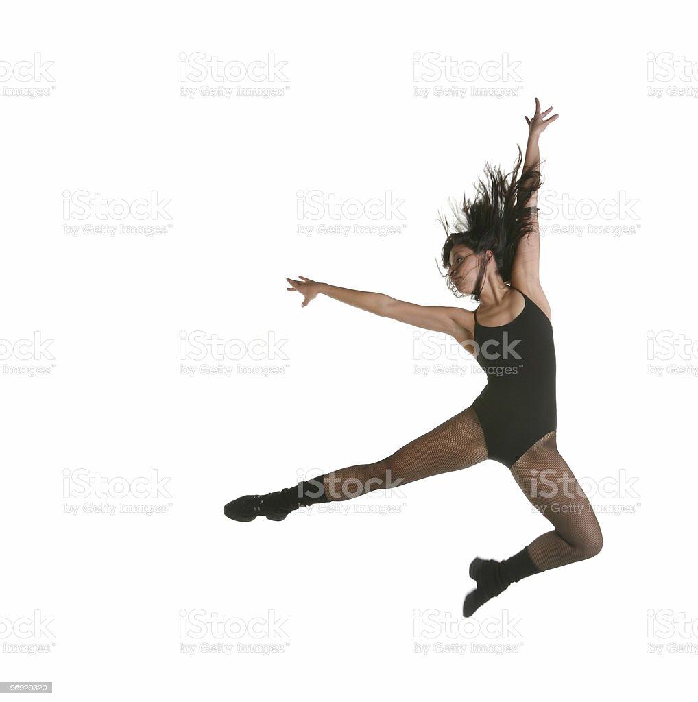 Beautiful Modern Jazz Street Dancer Jumping royalty-free stock photo