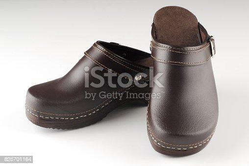 Beautiful pair of brown modern clogs