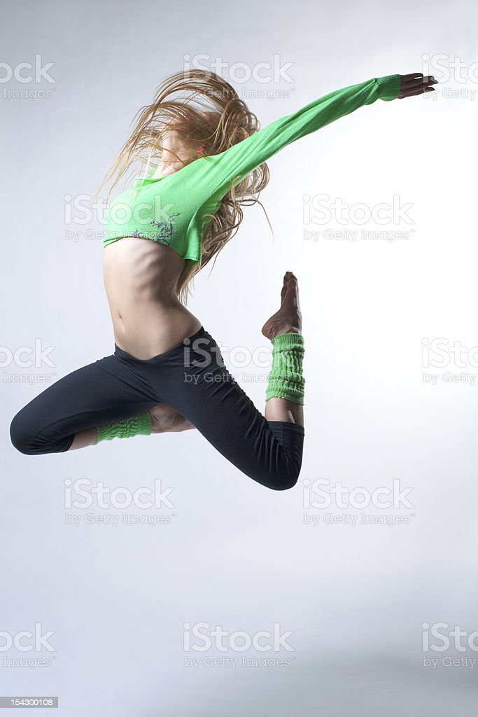 beautiful modern style dancer royalty-free stock photo