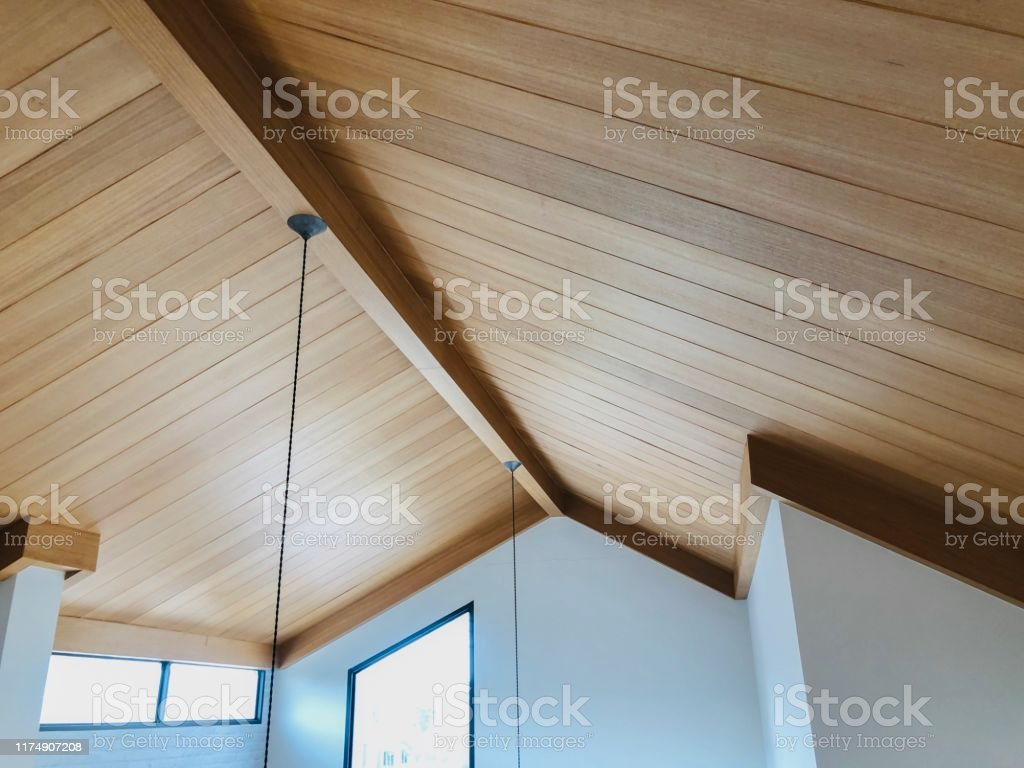 Beautiful Modern Wooden Roof In Living Room New House And Interior Loft Design Stock Photo Download Image Now Istock