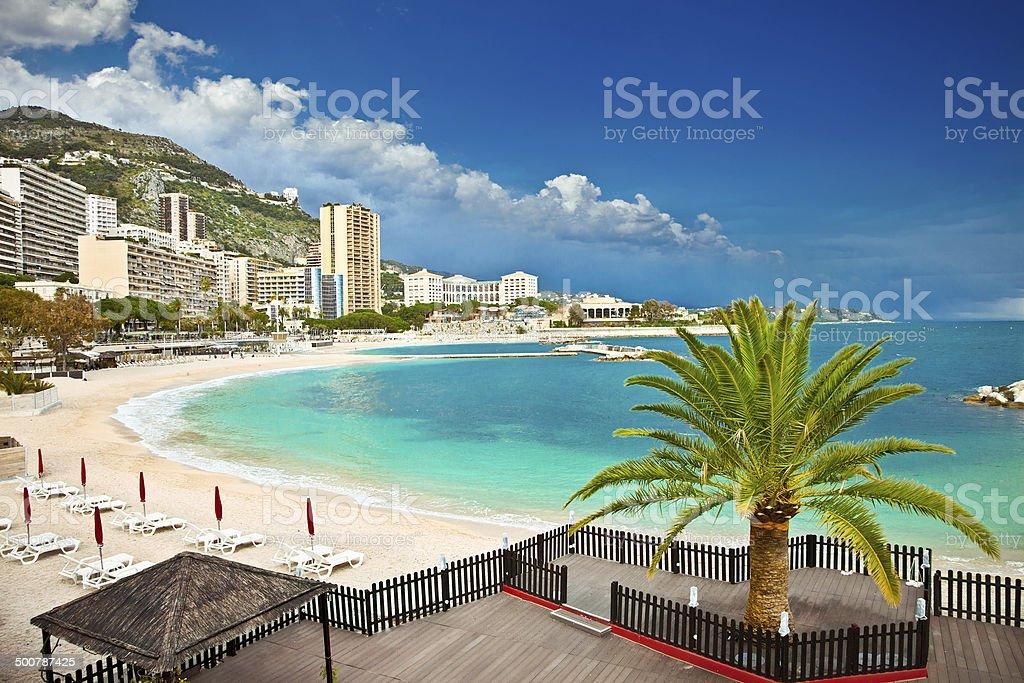 Beautiful Monte Carlo beaches, Monaco. stock photo