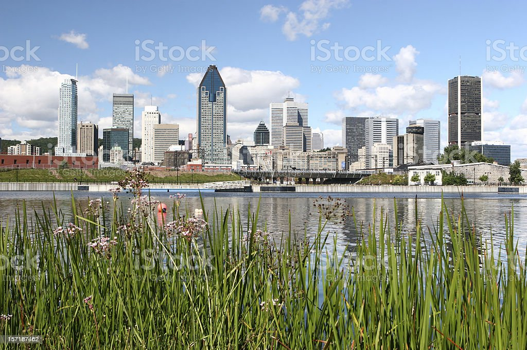 Beautiful Montreal City in Summer stock photo