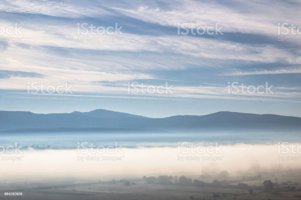 Beautiful morning atmosphere in a valley royalty-free stock photo