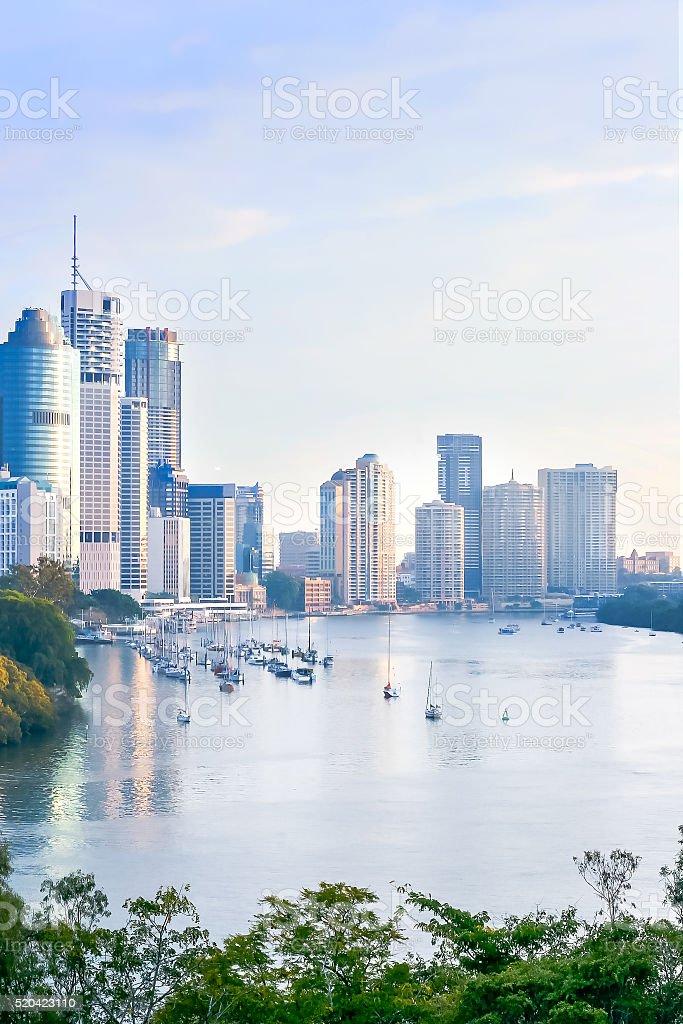 Beautiful morning in Brisbane stock photo