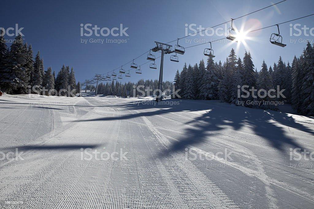 Beautiful morning in Serbia royalty-free stock photo