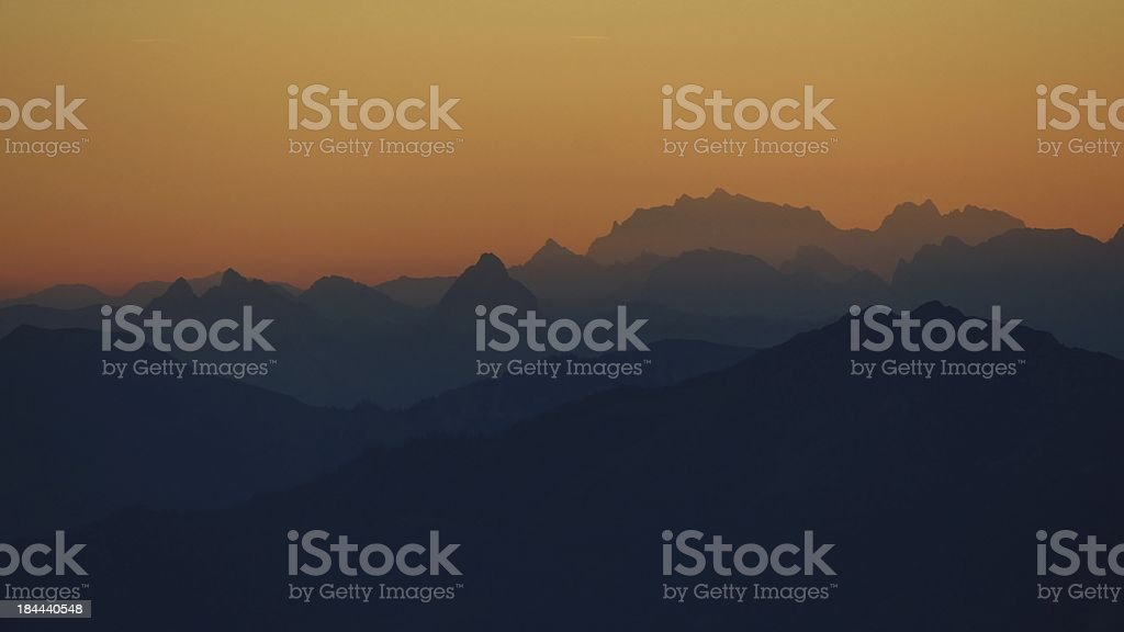 Beautiful morning in the Swiss Alps royalty-free stock photo