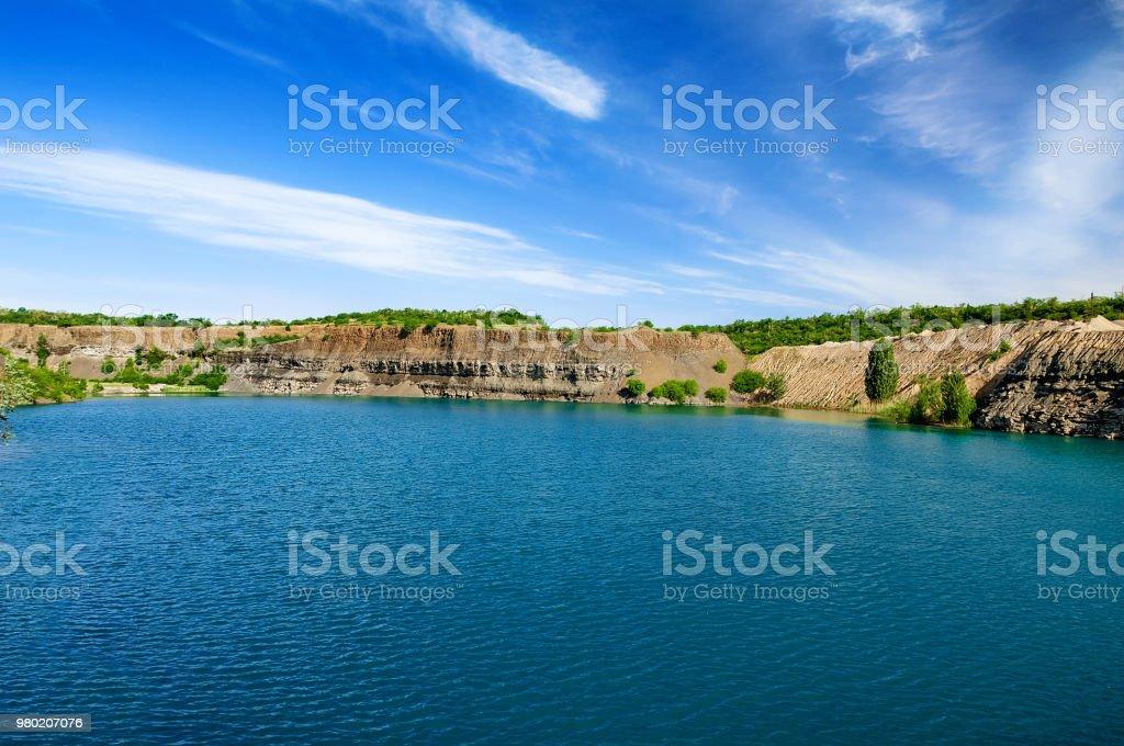 Schönen Guten Morgen Landschaft Des Sees Sommer Hintergrund