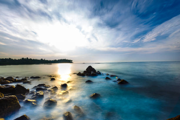 Beautiful morning landscapes. stock photo