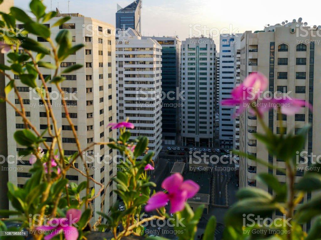 Schönen Guten Morgen Die Stadt Entspannender Blick Vom