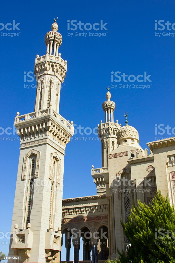 Beautiful Mosque In Port Said North Egypt stock photo