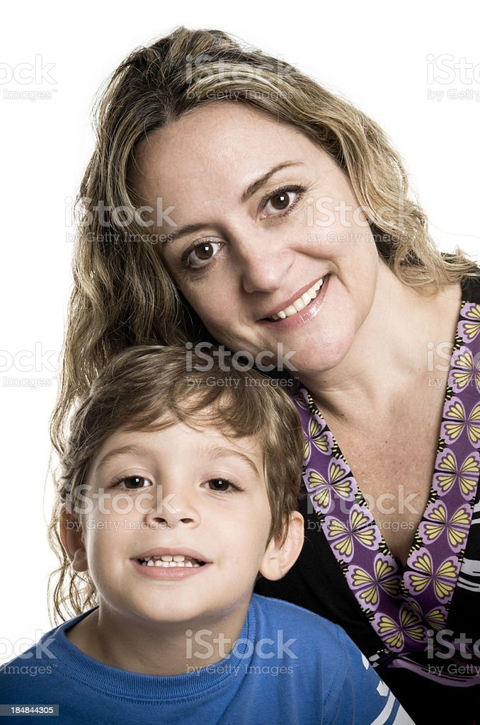 beautiful mother and kid royalty-free stock photo