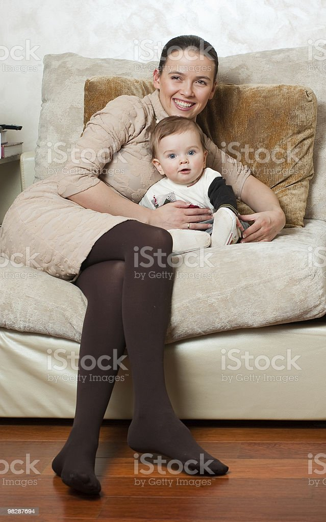 Beautiful mother and son royalty-free stock photo