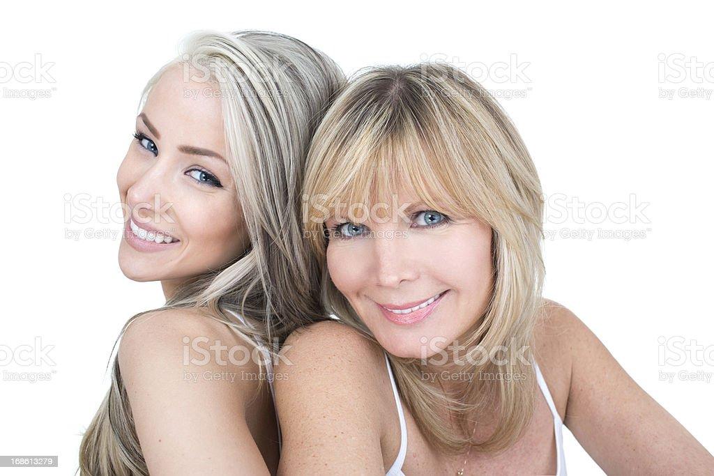 beautiful mother daughter stock photo
