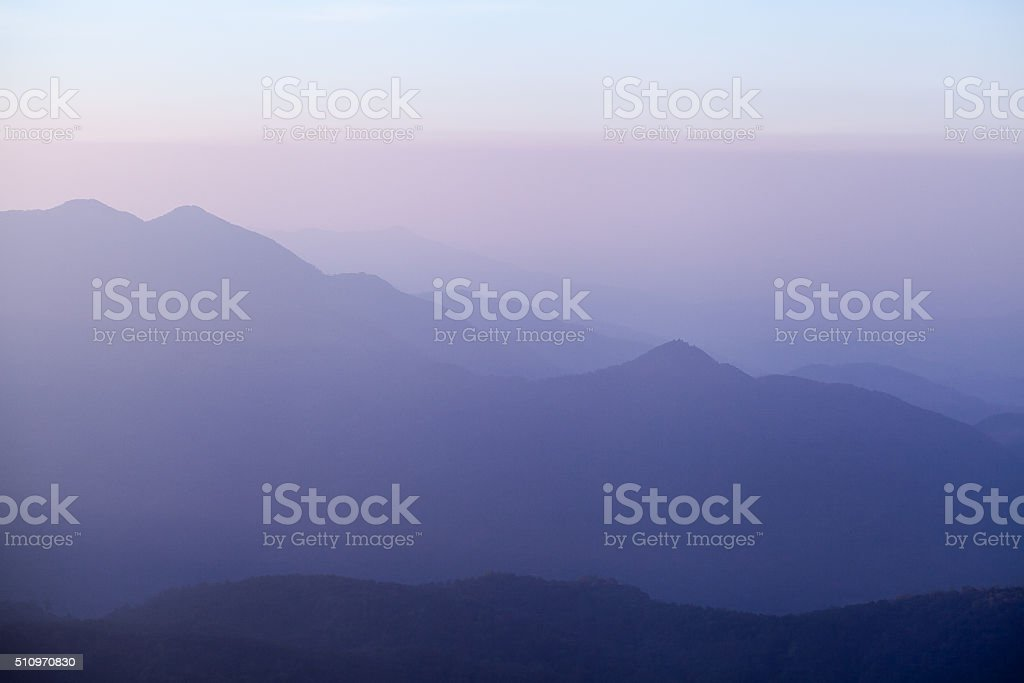 Beautiful mountain in sunrise stock photo