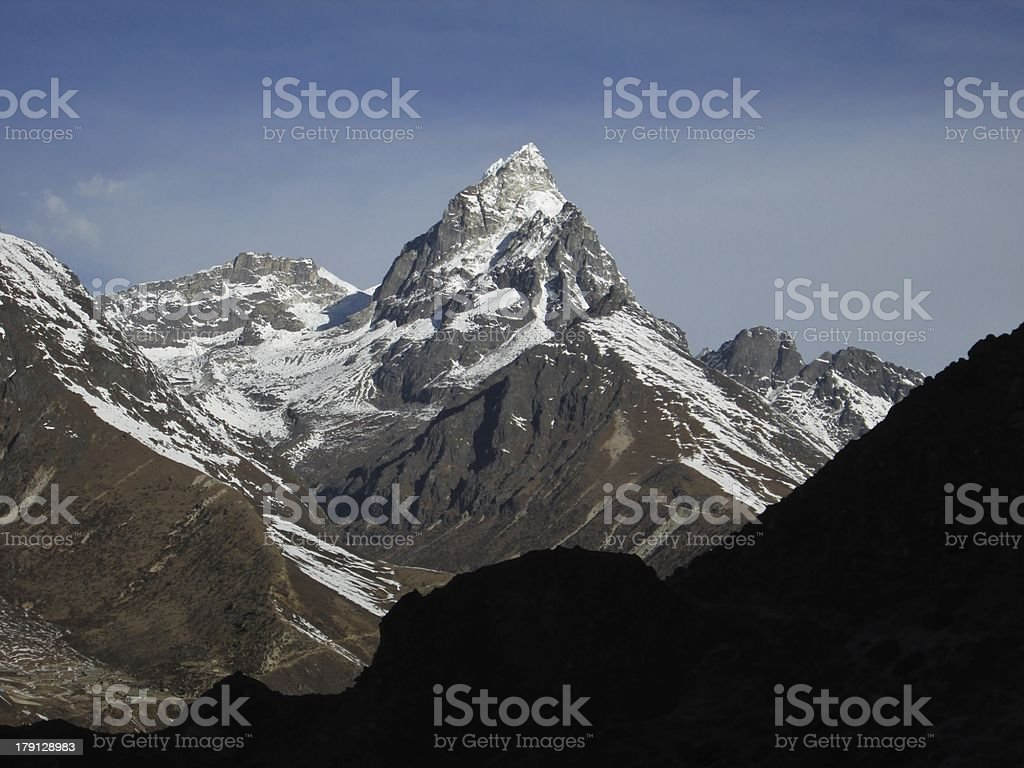 Beautiful mountain in the Gokyo Valley royalty-free stock photo