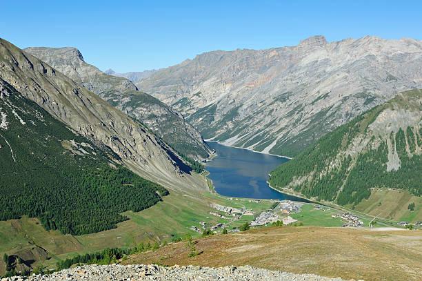Beautiful Mountain Lake stock photo