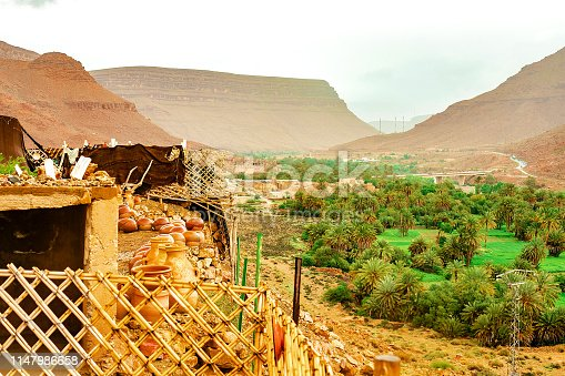 Landscape view of high Atlas Mountains, Morocco.